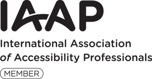 IAAP, International Association of Accessibility Professionals.